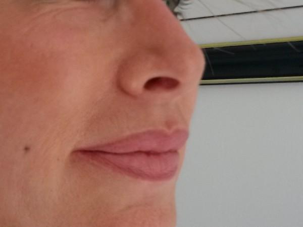 Maquillage semi-permanent des lèvres avec  fondu 3D (juste après la séance )